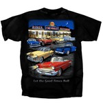 Chevrolet Parts -  CHEVROLET DINER AT NIGHT T-SHIRT - BLACK