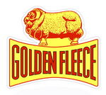 """GOLDEN FLEECE"" CUTOUT SIGN -22"" x 26"""