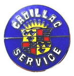 "Chevrolet Parts -  ""CADILLAC SERVICE"" HAT PIN - ROUND"