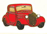 Chevrolet Parts -  1934 CHEVY COUPE HAT PIN - RED