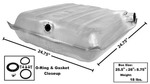 Chevrolet Parts -  1957 CAR STEEL GAS TANK