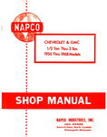 Chevrolet Parts -  1956-63 NAPCO 4X4 SHOP MANUAL
