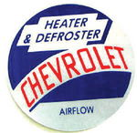 "Chevrolet Parts -  1954-1955 TRUCK ""AIRFLOW"" HEATER DECAL"