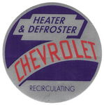 "Chevrolet Parts -  '53-55 ""RECIRCULATING"" HEATER DECAL"