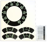 1954-1955 CHEVY TRUCK GAUGE DECAL KIT