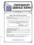 Chevrolet Parts -  1927 CHEVROLET FACTORY SERVICE NEWS