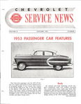 Chevrolet Parts -  1953 CHEVROLET FACTORY SERVICE NEWS