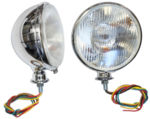 Chevrolet Parts -  KING BEE HEADLAMPS WITH TURN SIGNALS-CHROME