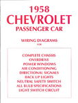 Chevrolet Parts -  1958 PASSENGER WIRING DIAGRAMS